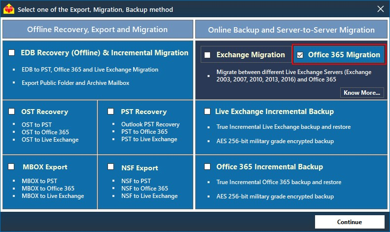 Office 365 migration steps - EdbMails