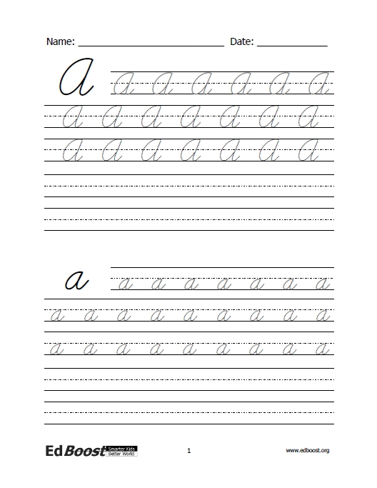 Formal And Informal Letters Letters Cursive Practice Letters And Words Edboost