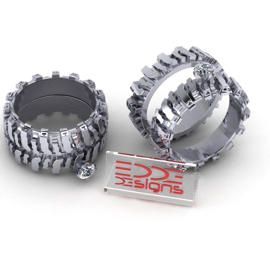 tire tread wedding rings sets download - Tire Wedding Rings