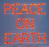 Peace on Earth Sign - Outdoor Christmas Decoration