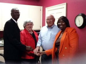 Eddie Woods, Mary and Charles Lowe, and Essie Nicholson.