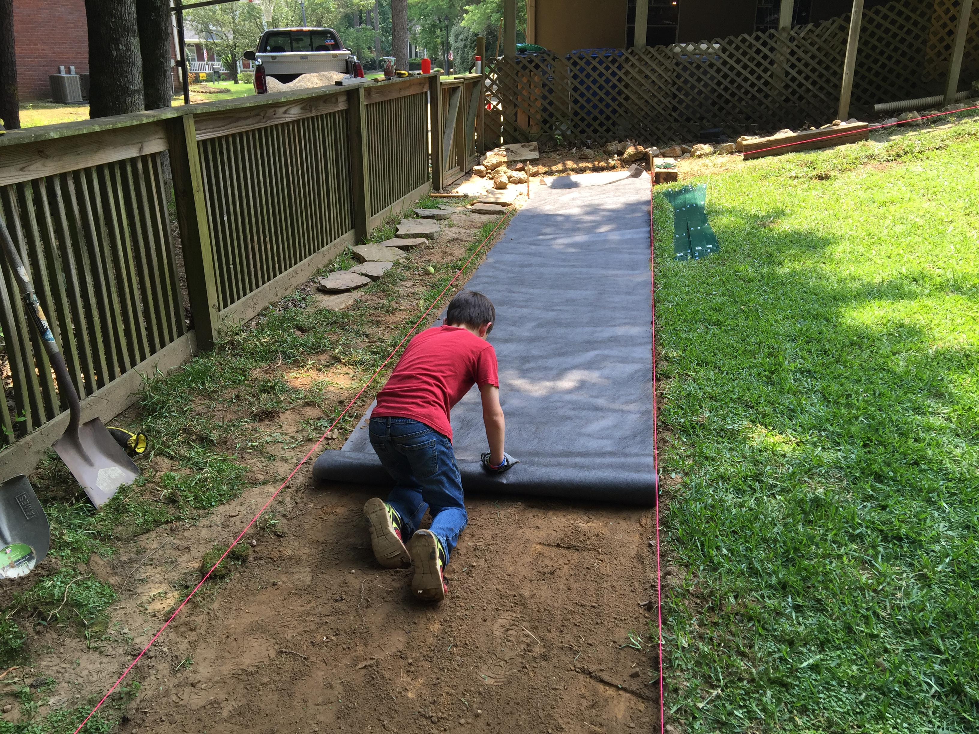 Making a garden pathway a lesson learned for Edging to keep mulch off sidewalk