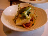 Slow baked baby halibut