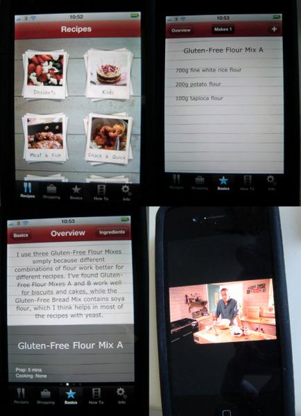Recipe choice, recipe ingredients, method, video
