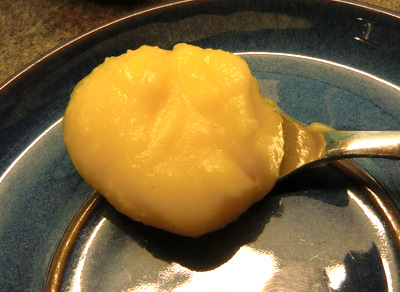 A spoonful of lemon curd