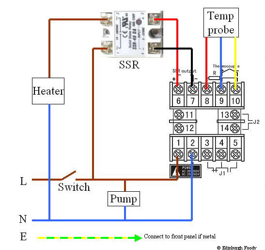wiring the jld 612 pid controller with solid state relay eat  pid ssr wiring diagram to #13