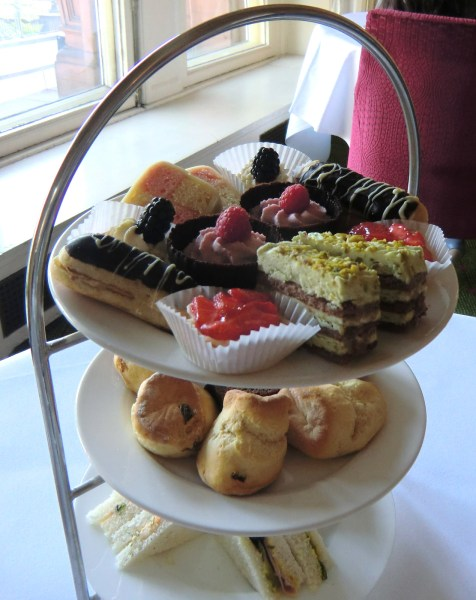 A proper afternoon tea at the Caledonian