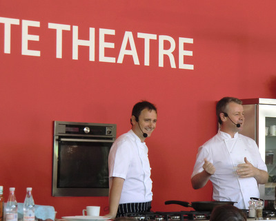 Roy Brett with Jason Atherton at Taste of Edinburgh