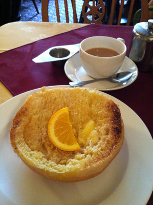 Sally Lunn toasted bun