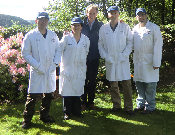 The whisky makers with Ronnie Cox