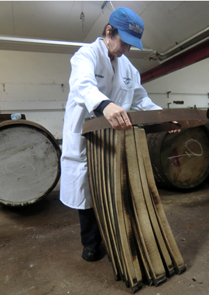 Making whisky barrels