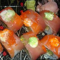 Rainbow roll from Hay Sushi.