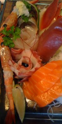 Sumptious sashimi from Sushiya.