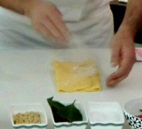 Folding the pasta