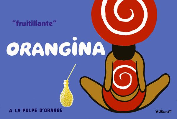 Orangina Poster 1970