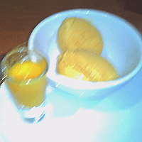 Vigorous but unhelpful blur, as mentioned. Delicious mango kulfi.