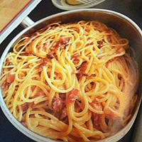 Spaghetti carbonara in The Silver Spoon
