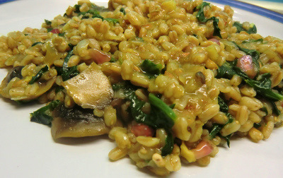 Balsamic Spelt Risotto with Vegetables