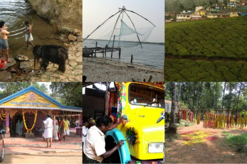 Chinese fishing nets; tea plantation; holy festival; painting trucks, rubber bands drying