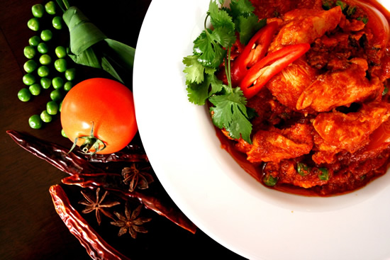Beef Rendang and Chicken Masak Merah