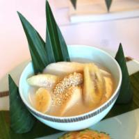 Bananas in coconut cream. Yum!