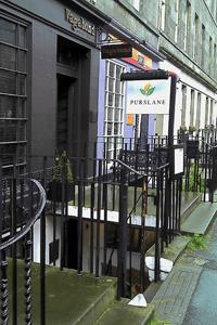 Purslane's a great down-stairs restaurant on St Stephen Street in Stockbridge.