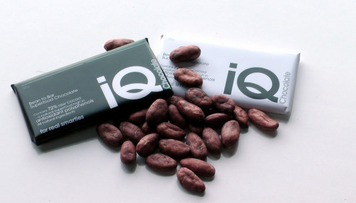 IQ Chocolate Bars. Photograph Courtesy of IQ Chocolate