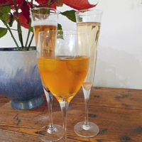 A trio of champagne cocktails: if only the bubbles showed up.