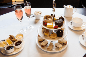 Afternoon tea with pink fizz, anyone?