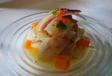 Ceviche signature dish made by Edinburgh Foody