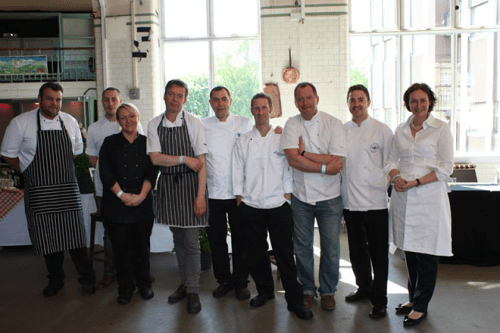 Look at all that talent! The Slow Food Chef Alliance Edinburgh representatives.