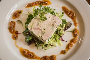 Chicken and Leek Terrine - Wee Restaurant - Photo copyright Brendan MacNeill