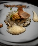 Carpaccio of smoked haddock, chopped duck egg and curry. Photo Brendan MacNeill