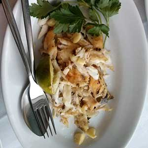 Grilled fish with garlic. Mmm. Locanda de Gusti, Edinburgh.