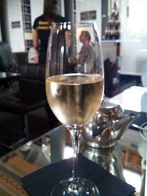 A glass of Pommery Brut is a lovely way to whet your appetite for afternoon tea. Pommery Bar at the Signet Library.