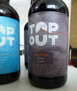 Smoked Porte from Top Out - Our beer of the day