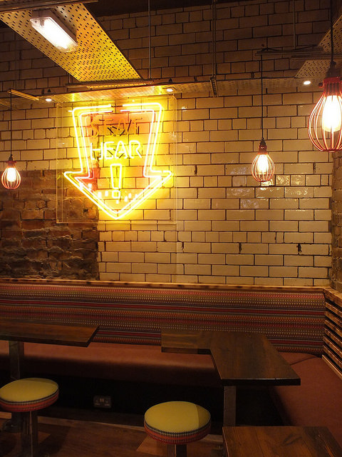 A warm and cheerful interior suits hot food well.