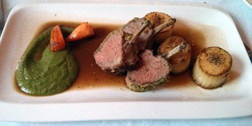 Tender lamb and fresh, earthy greens.