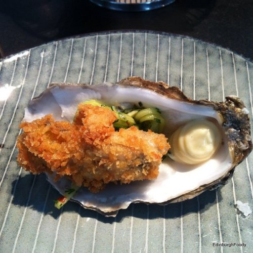 The star of the lunch - the oyster