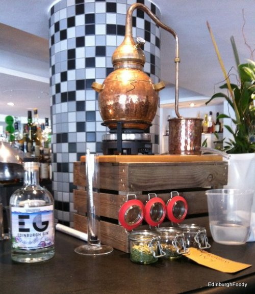 Edinburgh GIn's mini still and the new Seaside Gin