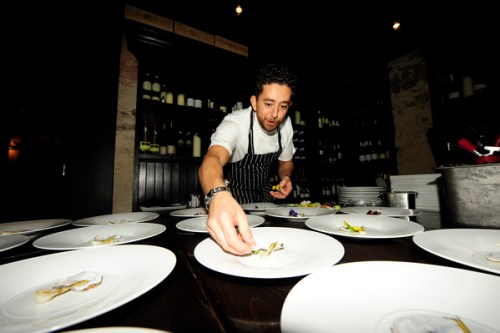 Lello Favuzzi plating up main course