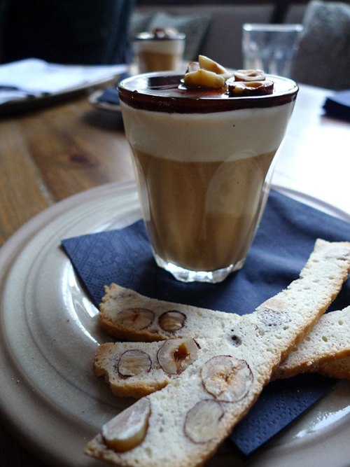 Espresso panna cotta at Scran & Scallie.