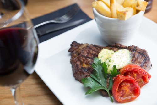 Steak and chips at Element, Rose St