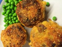 Indian style fishcakes ready for eating