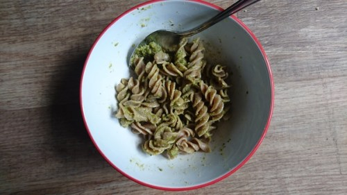 Bugsolutely cricket pasta with pesto