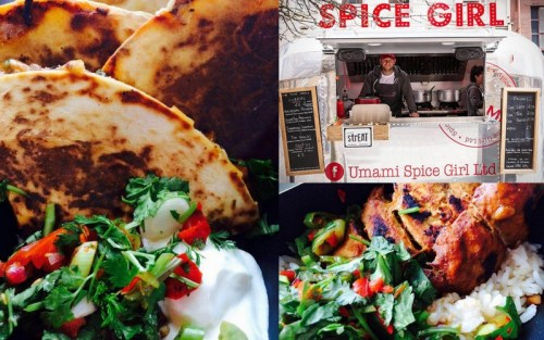 Great food street food is on offer at Umami Spice Girl in Assembly George Square Gardens