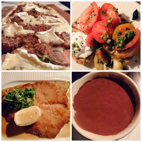 Cote pissaladiere breton tomates veal escalope chocolate mousse Edinburgh Foody