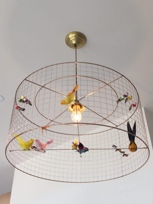 Birdcage light in the Restoration Yard