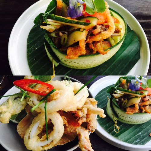 The starters at Chaophraya are beautifully served but I wasn't keen on sharing 'family style'
