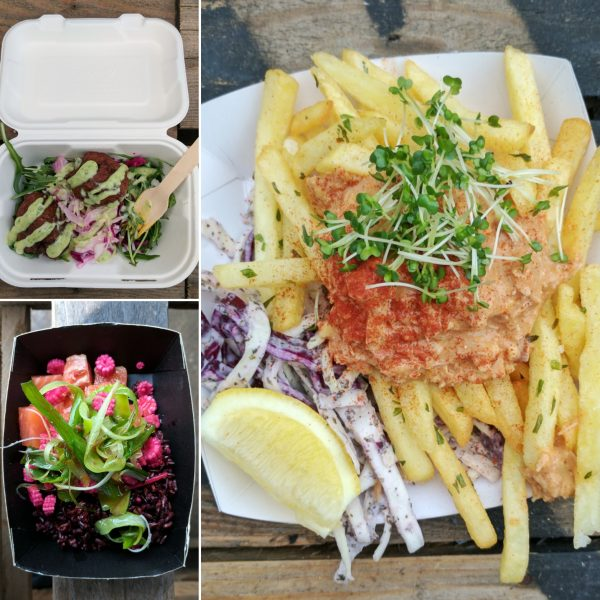 Pakora, sushi salad and crab may on chips. Did we eat well? Mmm, yes, I'd say so.